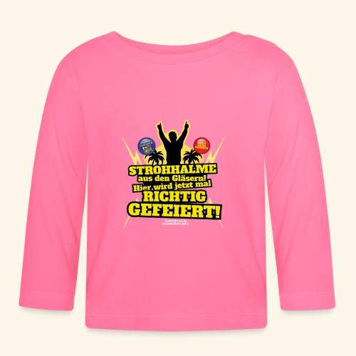 Party Crew T Shirt Strohhalm | Spruch - Baby Langarmshirt