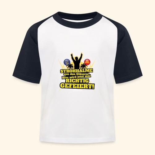 Party Crew T Shirt Strohhalm | Spruch - Kinder Baseball T-Shirt