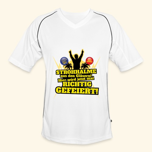 Party Crew T Shirt Strohhalm   Spruch - Männer Fußball-Trikot