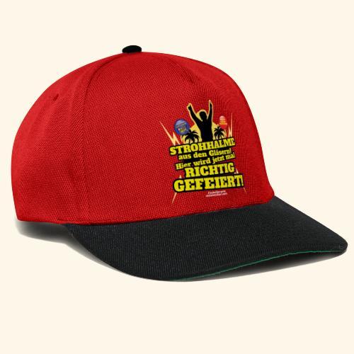 Party Crew T Shirt Strohhalm   Spruch - Snapback Cap