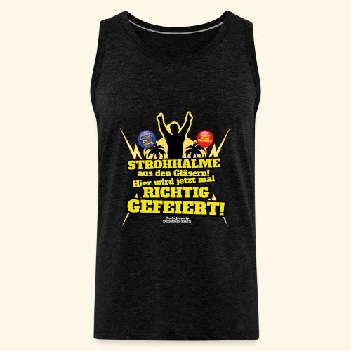 Party Crew T Shirt Strohhalm   Spruch - Männer Premium Tank Top