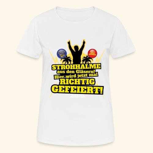 Party Crew T Shirt Strohhalm | Spruch - Frauen T-Shirt atmungsaktiv