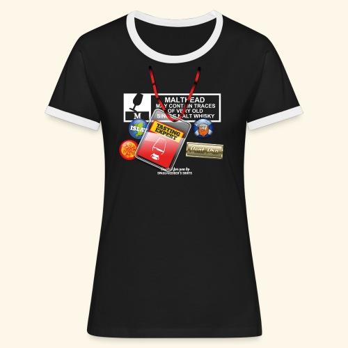 Whisky T Shirt Tasting Expert - Frauen Kontrast-T-Shirt