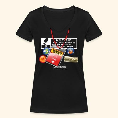 Whisky T Shirt Tasting Expert - Frauen Bio-T-Shirt mit V-Ausschnitt von Stanley & Stella