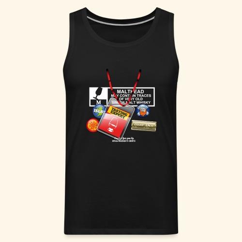 Whisky T Shirt Tasting Expert - Männer Premium Tank Top