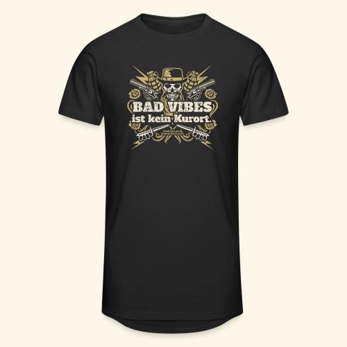 Sprüche T Shirt Bad Vibes ist kein Kurort - Männer Urban Longshirt