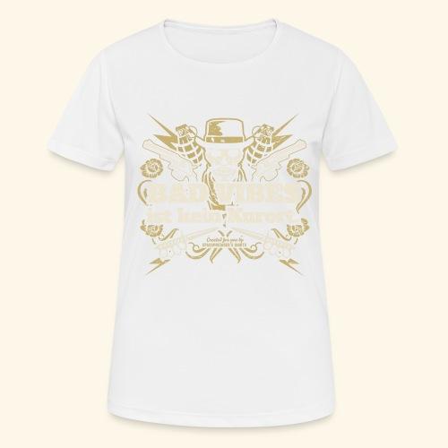 Sprüche T Shirt Bad Vibes ist kein Kurort - Frauen T-Shirt atmungsaktiv