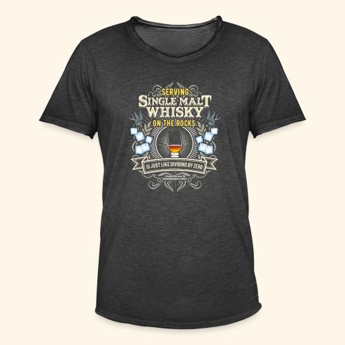 Whisky T Shirt Single Malt on the Rocks - Männer Vintage T-Shirt