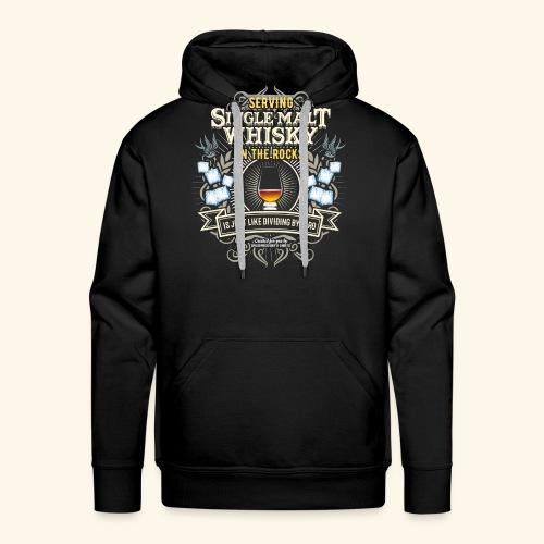 Whisky T Shirt Single Malt on the Rocks - Männer Premium Hoodie