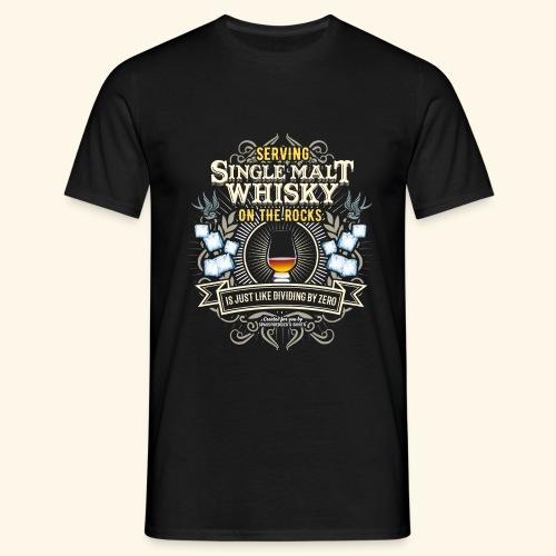 Whisky T Shirt Single Malt on the Rocks - Männer T-Shirt