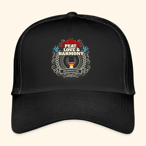 Whisky T Shirt Peat Love & Harmony - Trucker Cap