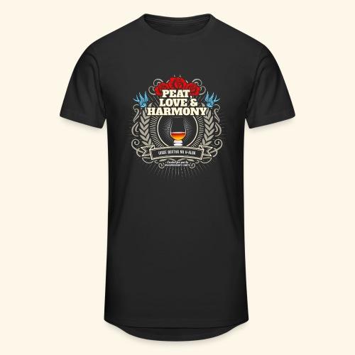 Whisky T Shirt Peat Love & Harmony - Männer Urban Longshirt