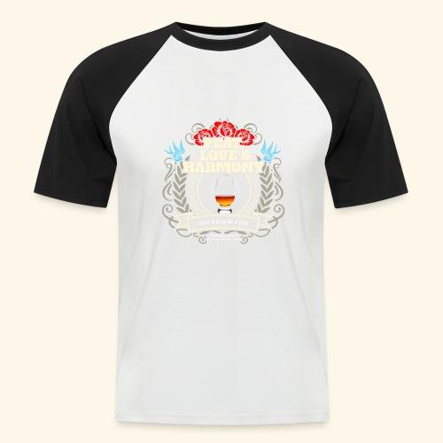 Whisky T Shirt Peat Love & Harmony - Männer Baseball-T-Shirt
