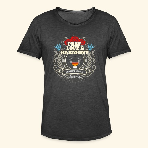 Whisky T Shirt Peat Love & Harmony - Männer Vintage T-Shirt