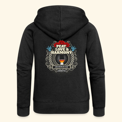 Whisky T Shirt Peat Love & Harmony - Frauen Premium Kapuzenjacke