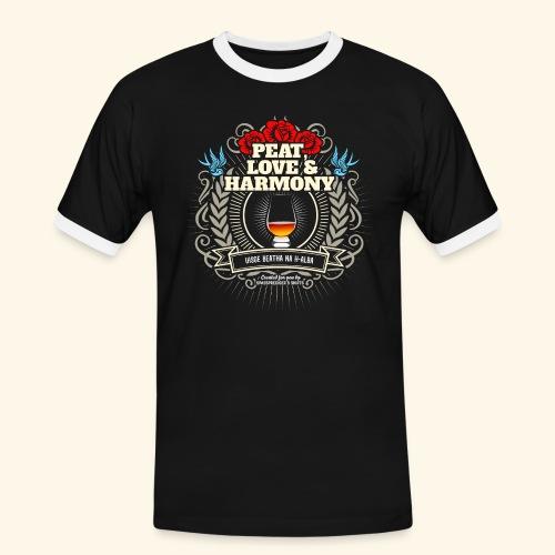 Whisky T Shirt Peat Love & Harmony - Männer Kontrast-T-Shirt