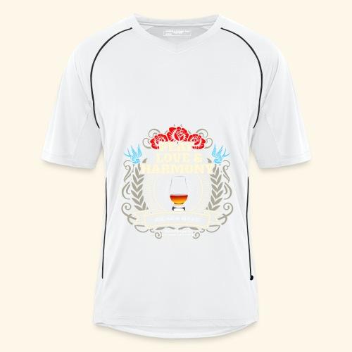 Whisky T Shirt Peat Love & Harmony - Männer Fußball-Trikot