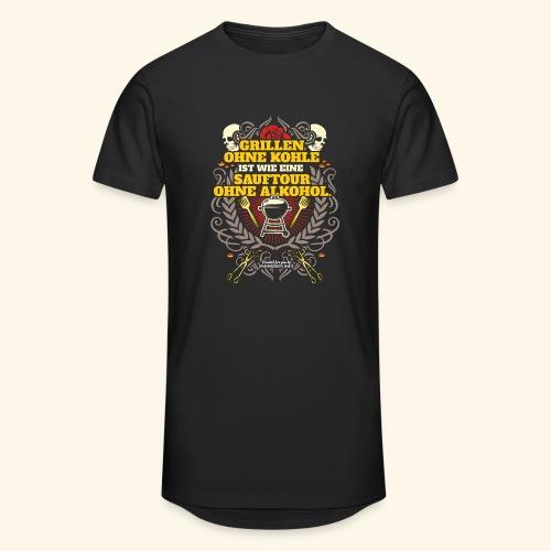 Grill T Shirt Grillen ohne Kohle - Männer Urban Longshirt