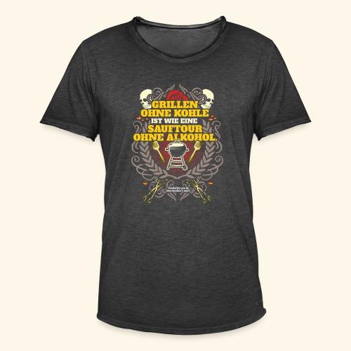 Grill T Shirt Grillen ohne Kohle - Männer Vintage T-Shirt