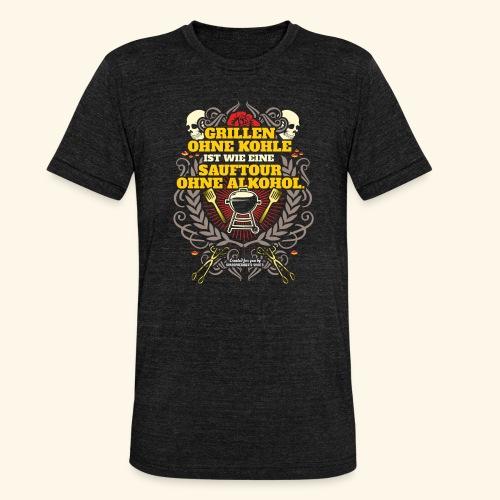 Grill T Shirt Grillen ohne Kohle - Unisex Tri-Blend T-Shirt von Bella + Canvas