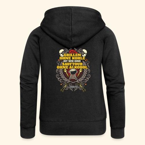 Grill T Shirt Grillen ohne Kohle - Frauen Premium Kapuzenjacke