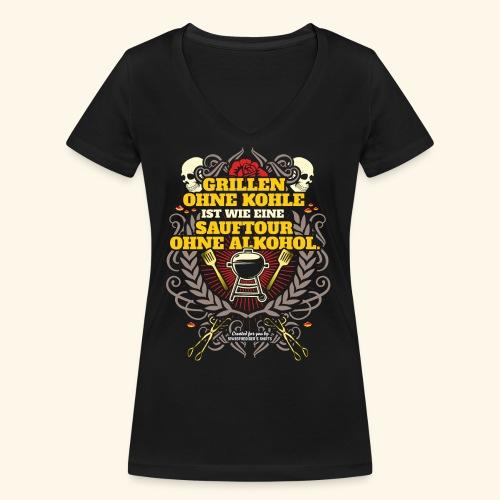 Grill T Shirt Grillen ohne Kohle - Frauen Bio-T-Shirt mit V-Ausschnitt von Stanley & Stella