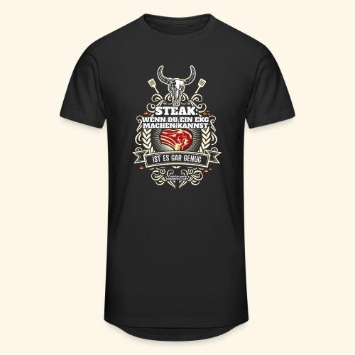 Grill T Shirt Steak | witziger Spruch - Männer Urban Longshirt