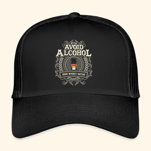 Whiskey T Shirt Avoid Alcohol - Trucker Cap
