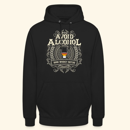 Whiskey T Shirt Avoid Alcohol - Unisex Hoodie