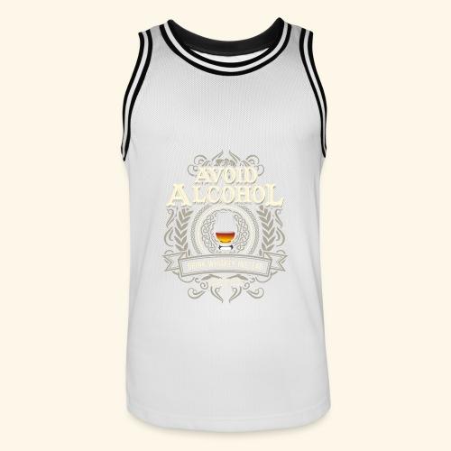 Whiskey T Shirt Avoid Alcohol - Männer Basketball-Trikot