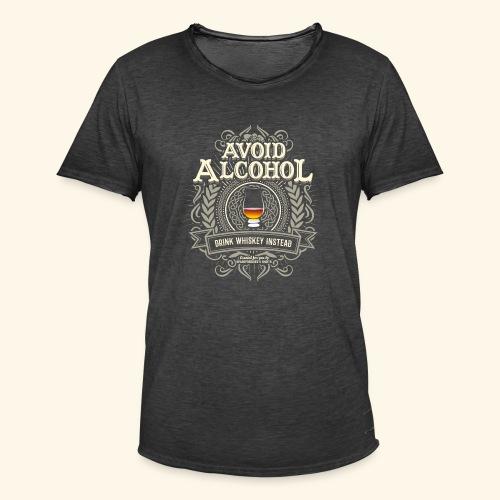 Whiskey T Shirt Avoid Alcohol - Männer Vintage T-Shirt