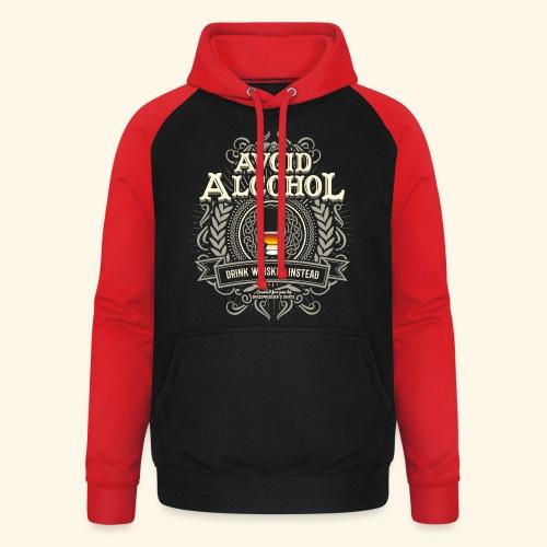 Whiskey T Shirt Avoid Alcohol - Unisex Baseball Hoodie
