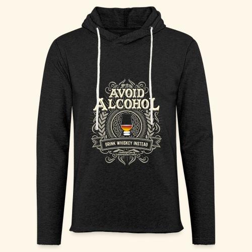 Whiskey T Shirt Avoid Alcohol - Leichtes Kapuzensweatshirt Unisex