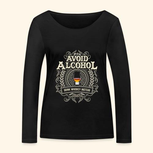 Whiskey T Shirt Avoid Alcohol - Frauen Bio-Langarmshirt von Stanley & Stella