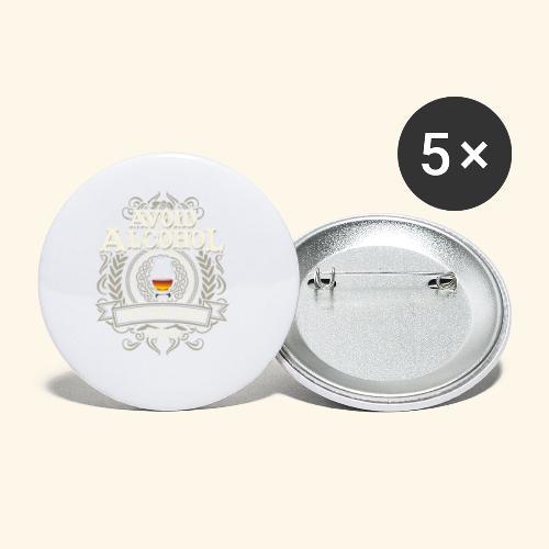 Whiskey T Shirt Avoid Alcohol - Buttons klein 25 mm (5er Pack)
