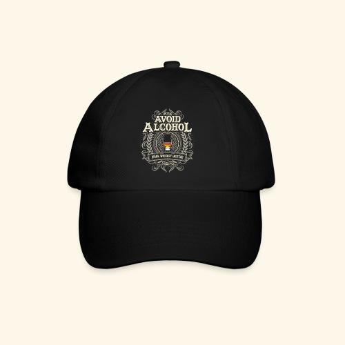 Whiskey T Shirt Avoid Alcohol - Baseballkappe