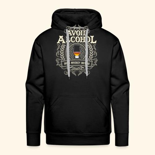 Whiskey T Shirt Avoid Alcohol - Männer Premium Hoodie