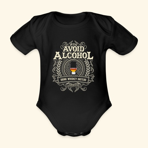 Whiskey T Shirt Avoid Alcohol - Baby Bio-Kurzarm-Body