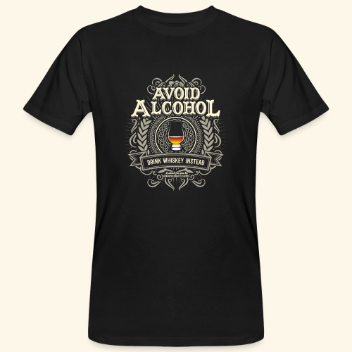 Whiskey T Shirt Avoid Alcohol - Männer Bio-T-Shirt