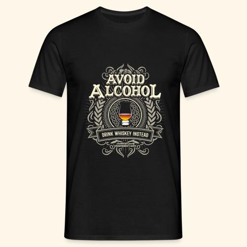 Whiskey T Shirt Avoid Alcohol - Männer T-Shirt