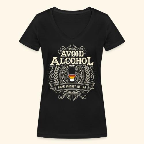 Whiskey T Shirt Avoid Alcohol - Frauen Bio-T-Shirt mit V-Ausschnitt von Stanley & Stella