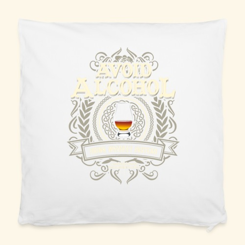 Whiskey T Shirt Avoid Alcohol - Kissenbezug 40 x 40 cm