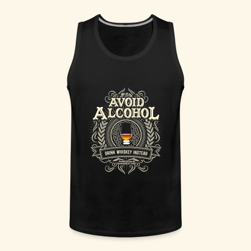 Whiskey T Shirt Avoid Alcohol - Männer Premium Tank Top