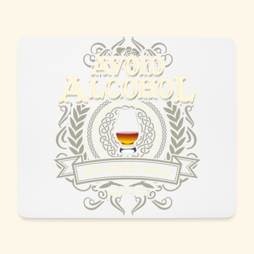 Whiskey T Shirt Avoid Alcohol - Mousepad (Querformat)