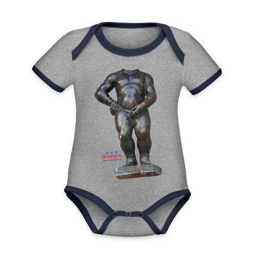 REAL BiG mannekenpis  | ♀♂ - Body Bébé bio contrasté manches courtes