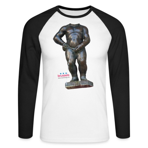 REAL BiG mannekenpis  | ♀♂ - T-shirt baseball manches longues Homme