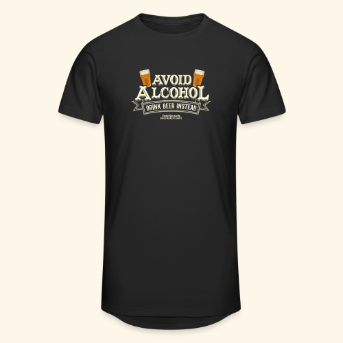 Bier T Shirt Spruch Avoid Alcohol Drink Beer  - Männer Urban Longshirt