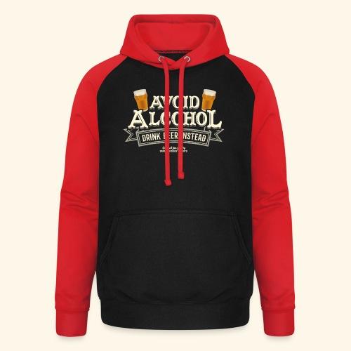 Bier T Shirt Spruch Avoid Alcohol Drink Beer  - Unisex Baseball Hoodie