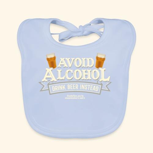 Bier T Shirt Spruch Avoid Alcohol Drink Beer  - Baby Bio-Lätzchen