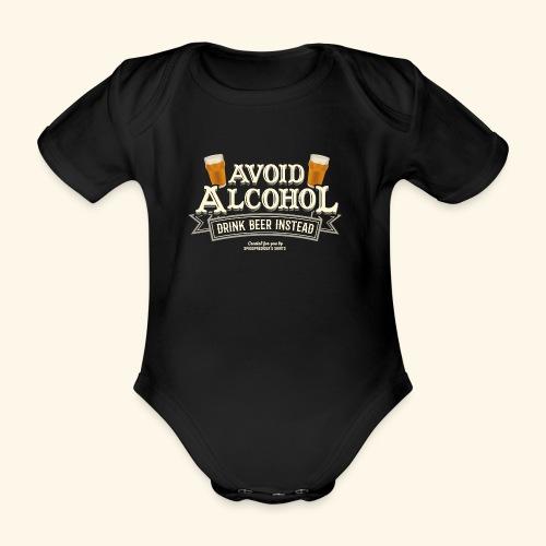 Bier T Shirt Spruch Avoid Alcohol Drink Beer  - Baby Bio-Kurzarm-Body